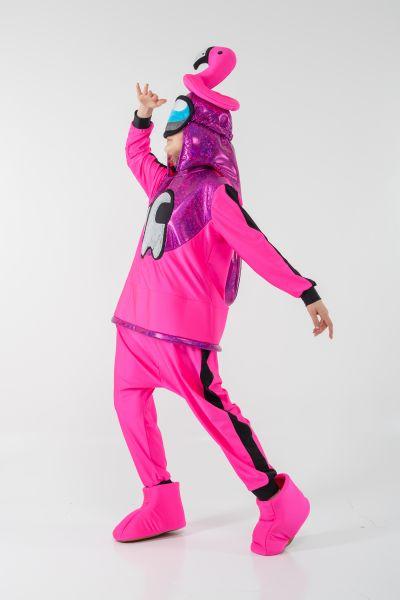 Розовый AmongUs «Амонг Ас» карнавальный костюм для аниматоров