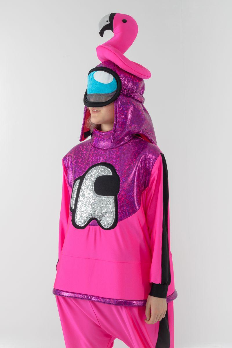 Масочка - Розовый AmongUs «Амонг Ас» карнавальный костюм для аниматоров / фото №3076