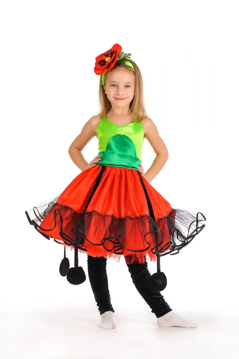 Масочка - «Мак» карнавальный костюм для девочки / фото №308