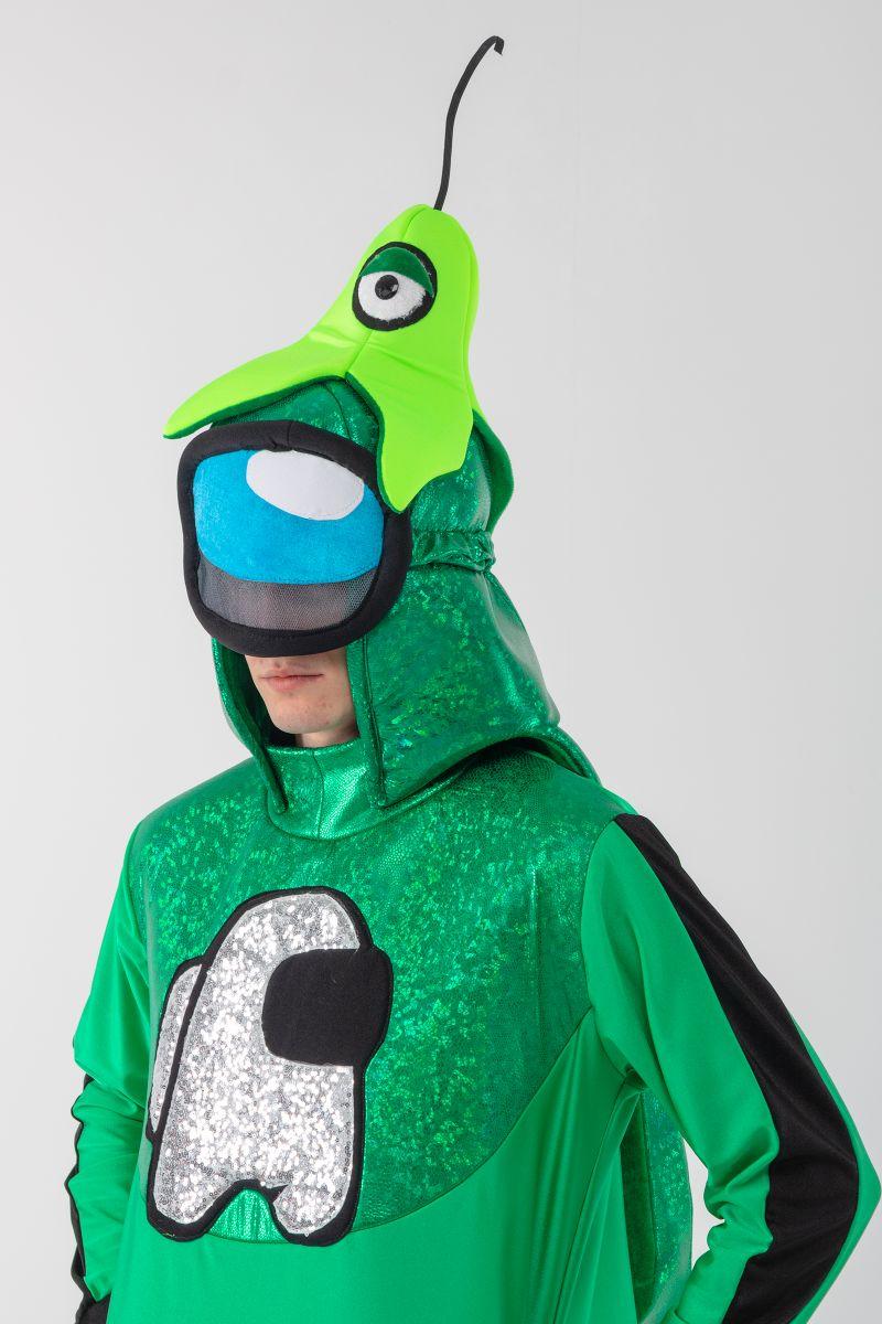 Масочка - Зеленый AmongUs «Амонг Ас» карнавальный костюм для аниматоров / фото №3085