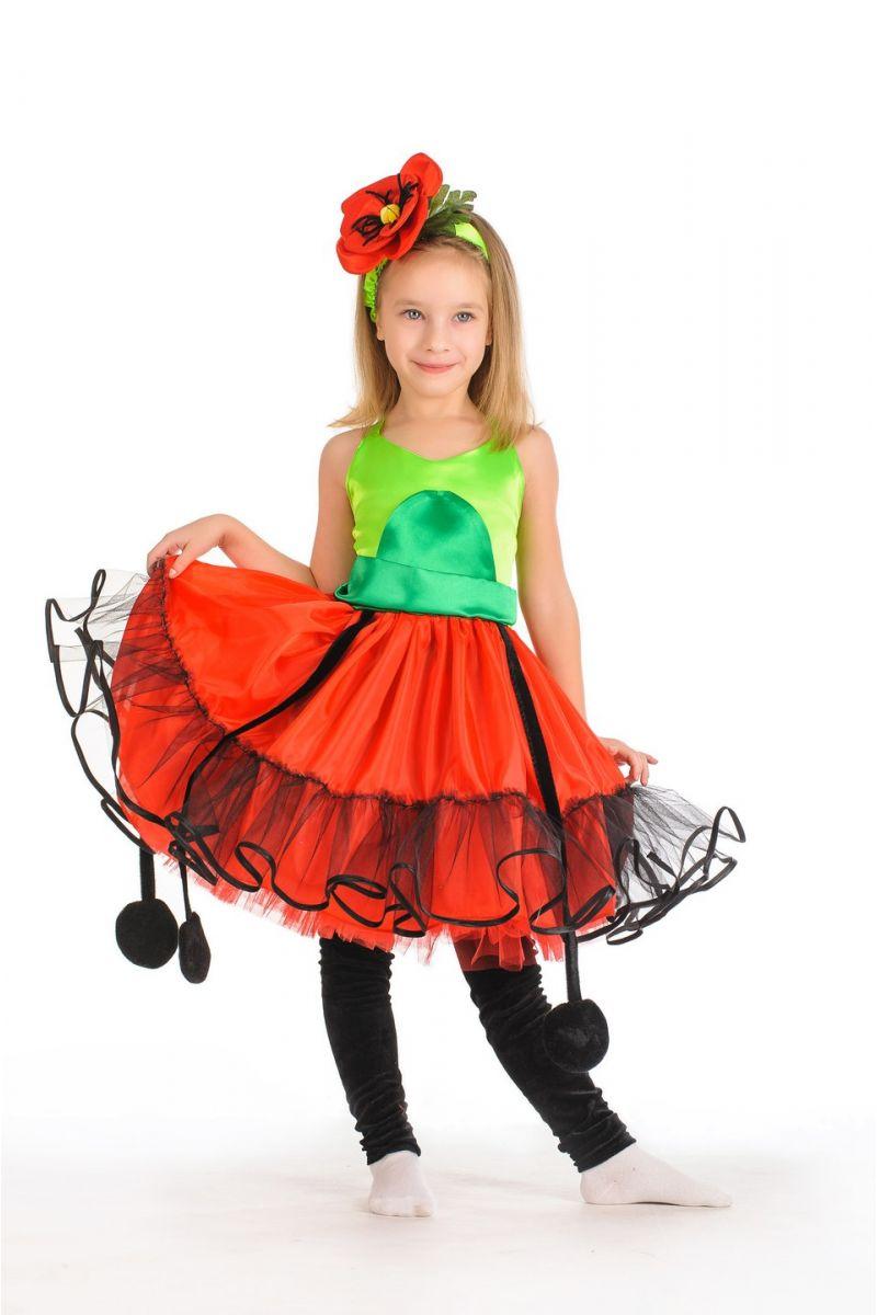 Масочка - «Мак» карнавальный костюм для девочки / фото №309