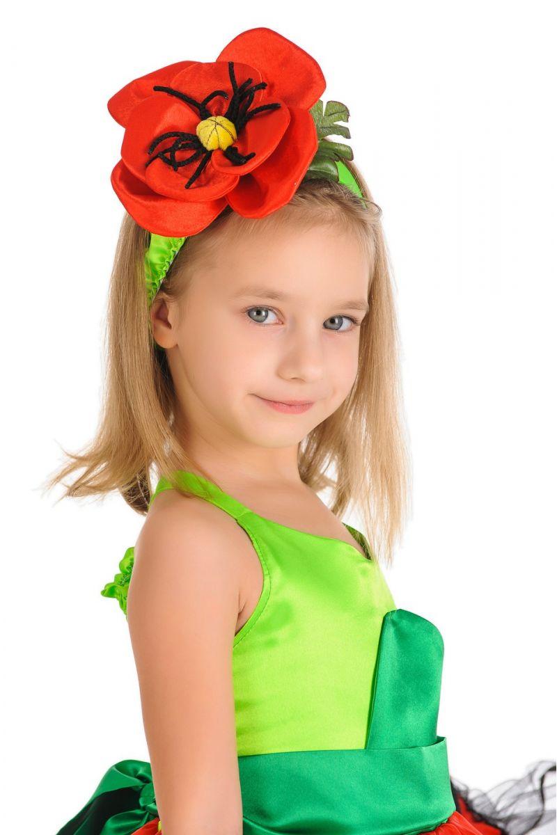 Масочка - «Мак» карнавальный костюм для девочки / фото №310