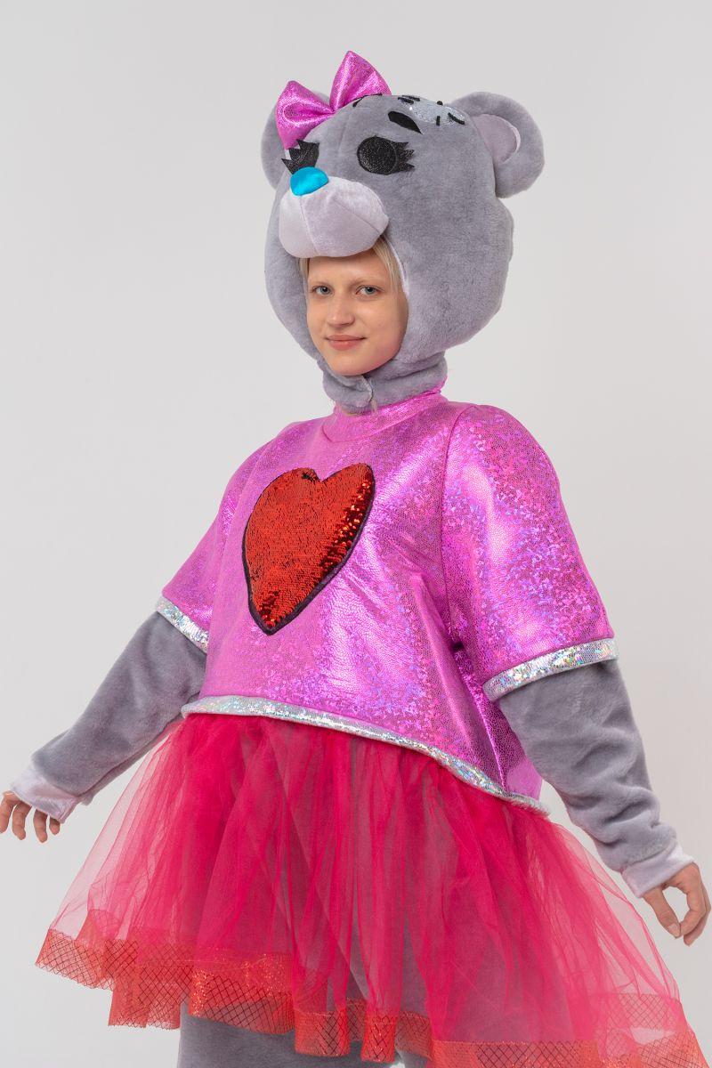 Масочка - Мишка Тедди девочка «Teddy Bear» карнавальный костюм для аниматора / фото №3101