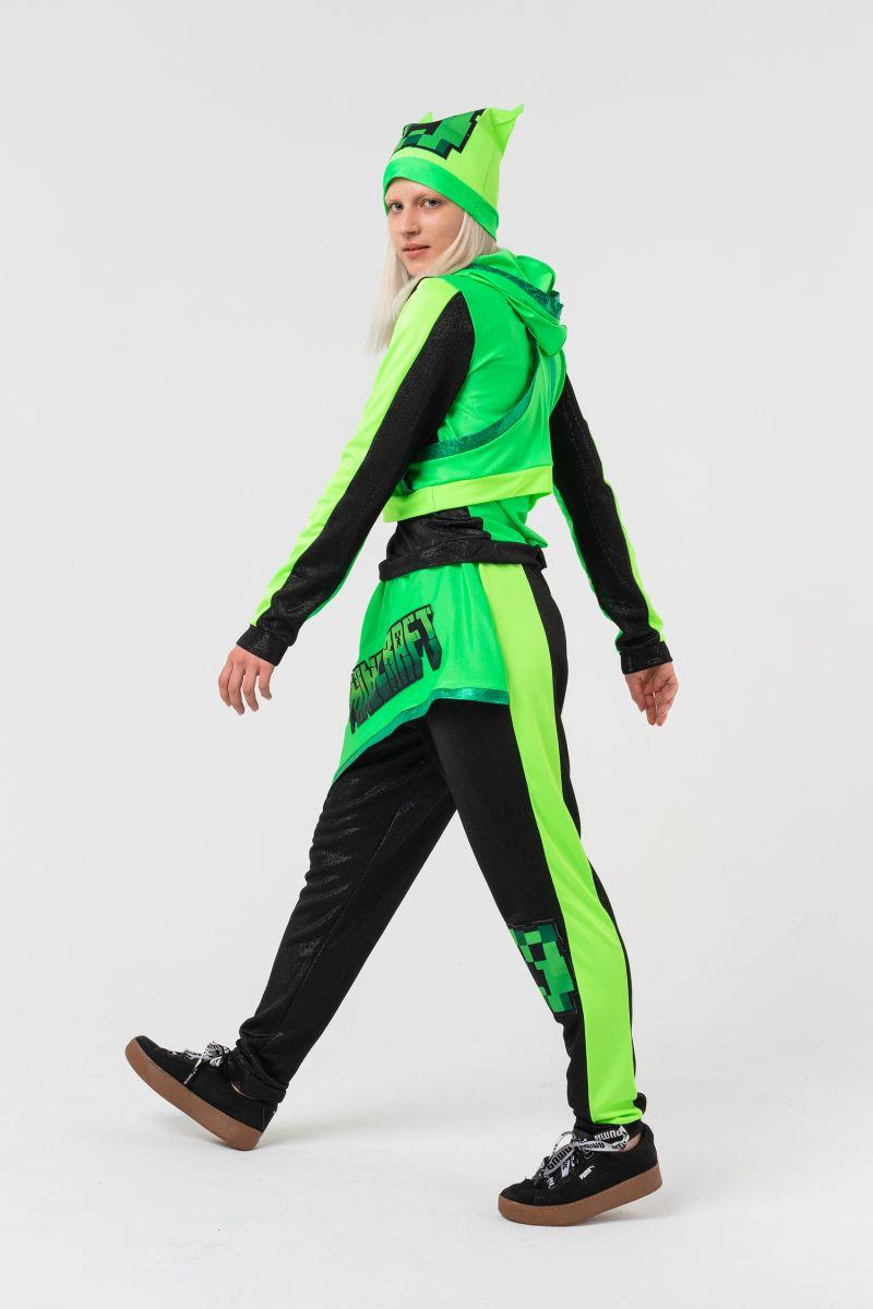 Масочка - Крипер Девочка «Minecraft» карнавальный костюм для аниматоров / фото №3146