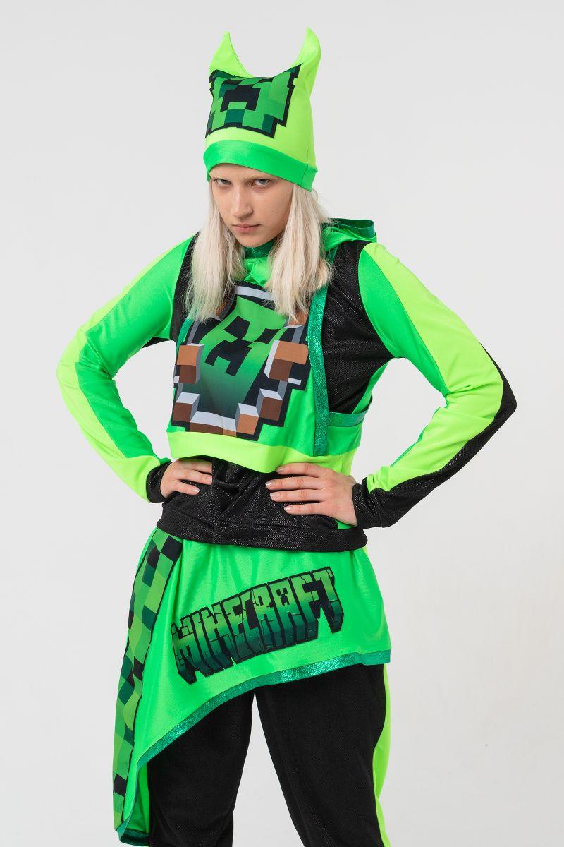 Масочка - Крипер Девочка «Minecraft» карнавальный костюм для аниматоров / фото №3148