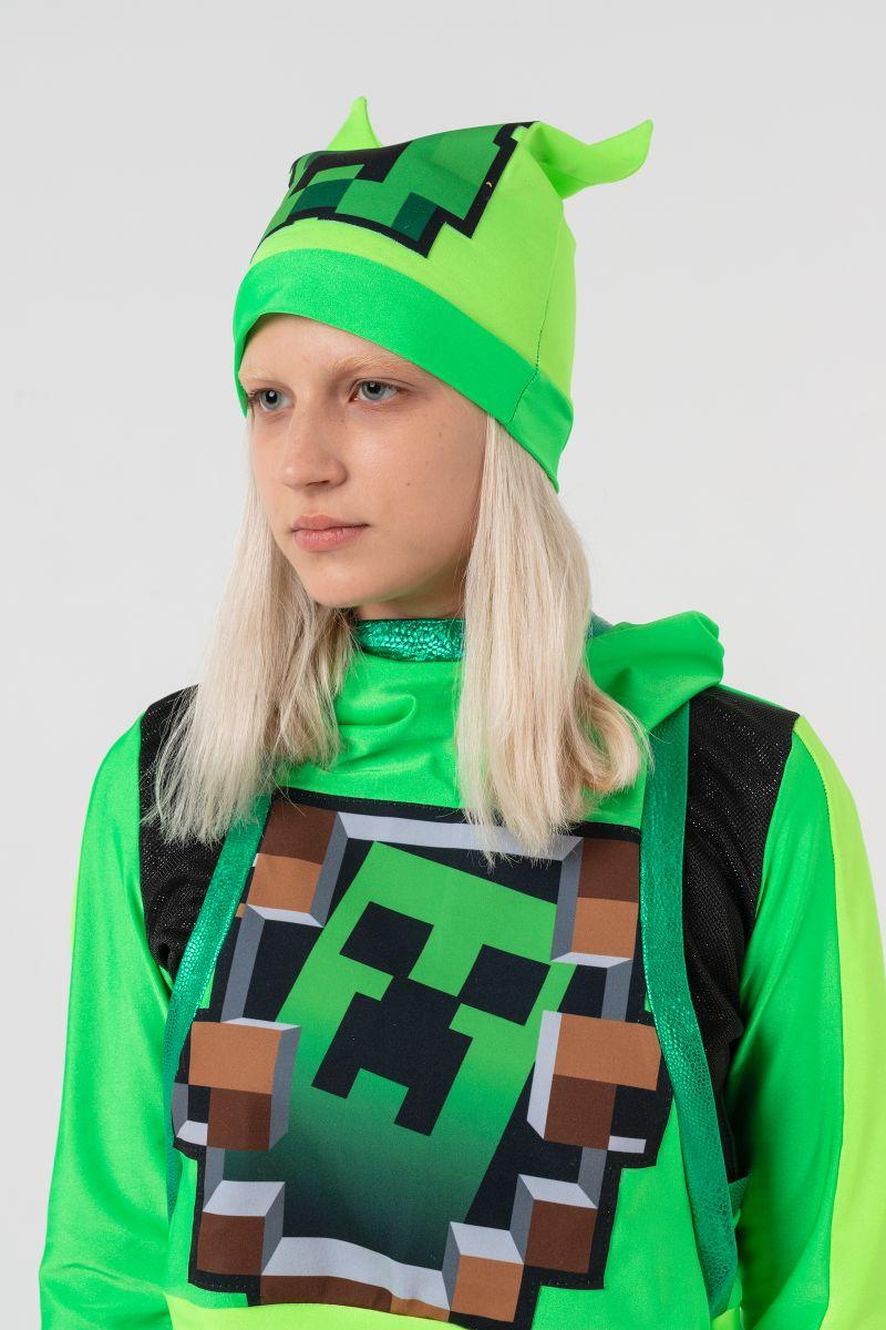 Масочка - Крипер Девочка «Minecraft» карнавальный костюм для аниматоров / фото №3149