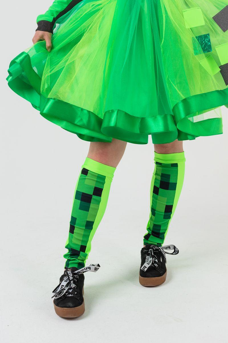 Масочка - Крипер Девочка в юбке «Minecraft» карнавальный костюм для аниматоров / фото №3164