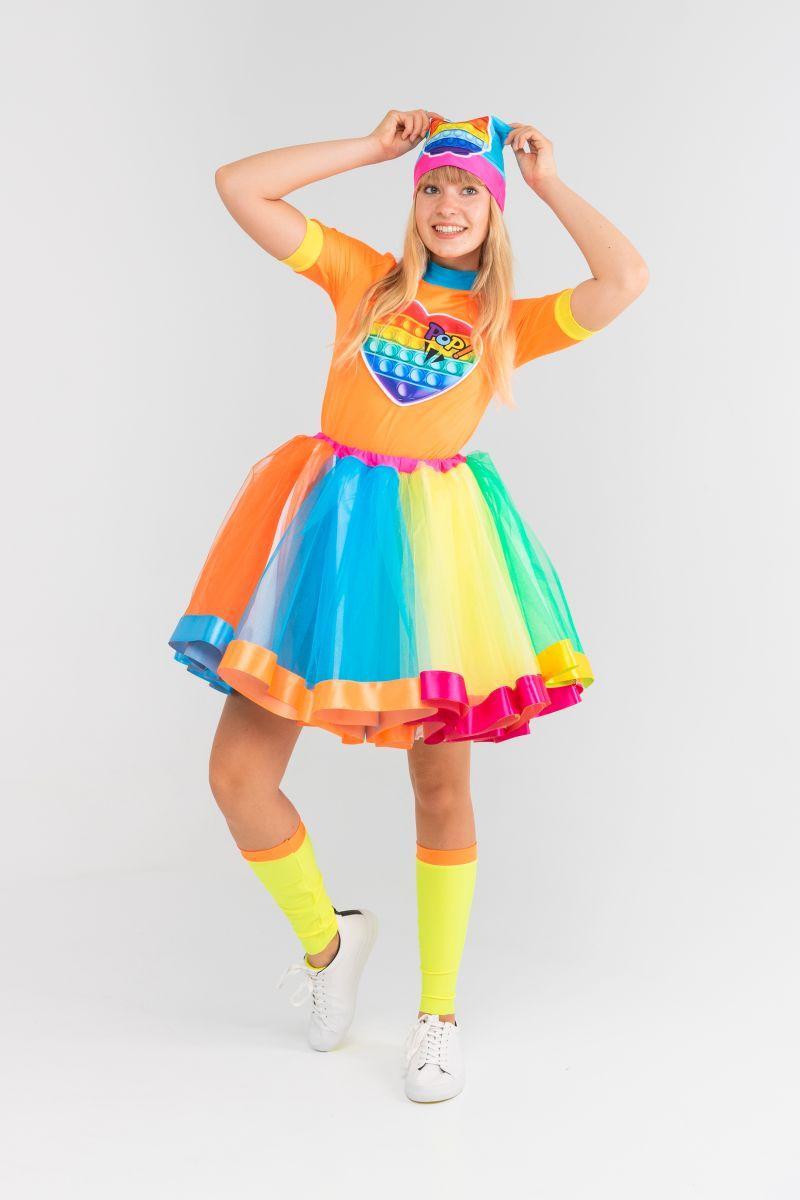 Масочка - Поп Ит Девчонка «Pop it girl» карнавальный костюм для аниматоров / фото №3173
