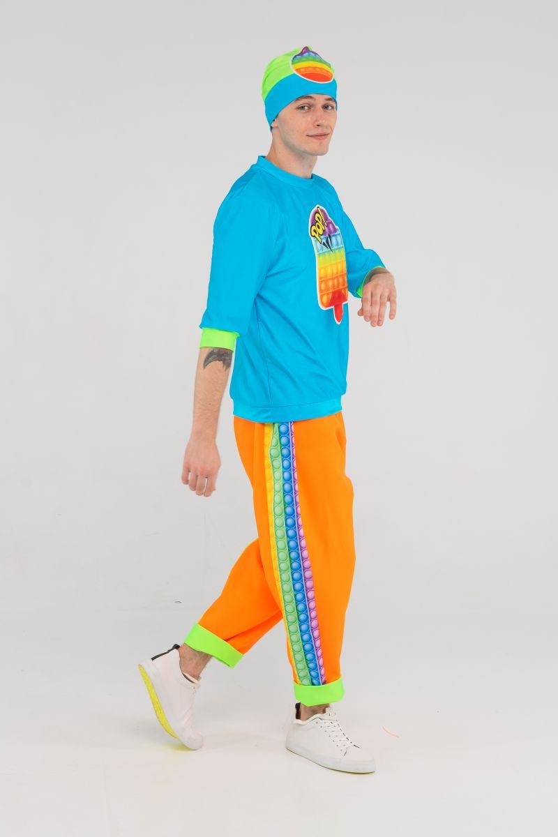 Масочка - Поп Ит парень бирюза «Pop it boy» карнавальный костюм для аниматоров / фото №3204
