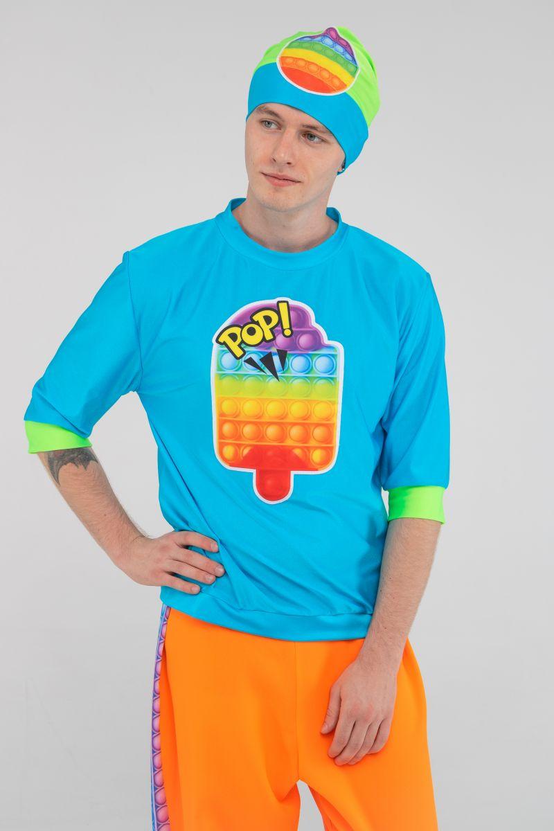Масочка - Поп Ит парень бирюза «Pop it boy» карнавальный костюм для аниматоров / фото №3205