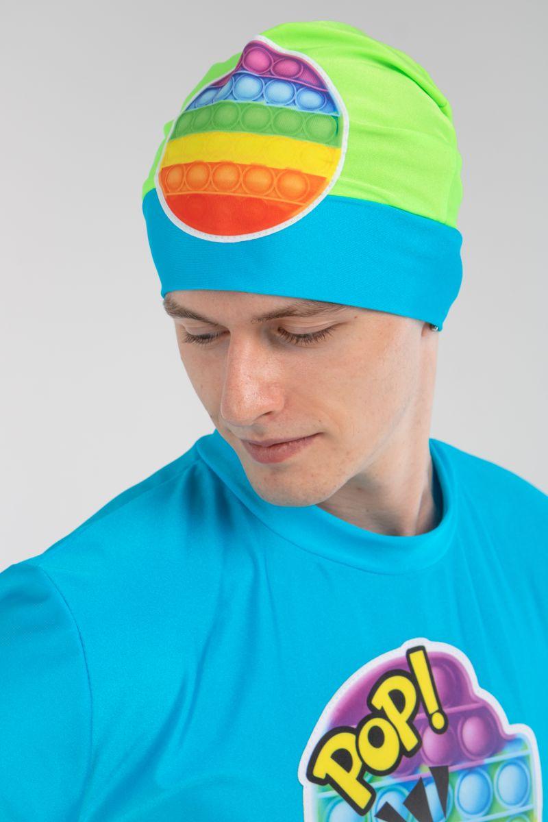 Масочка - Поп Ит парень бирюза «Pop it boy» карнавальный костюм для аниматоров / фото №3207