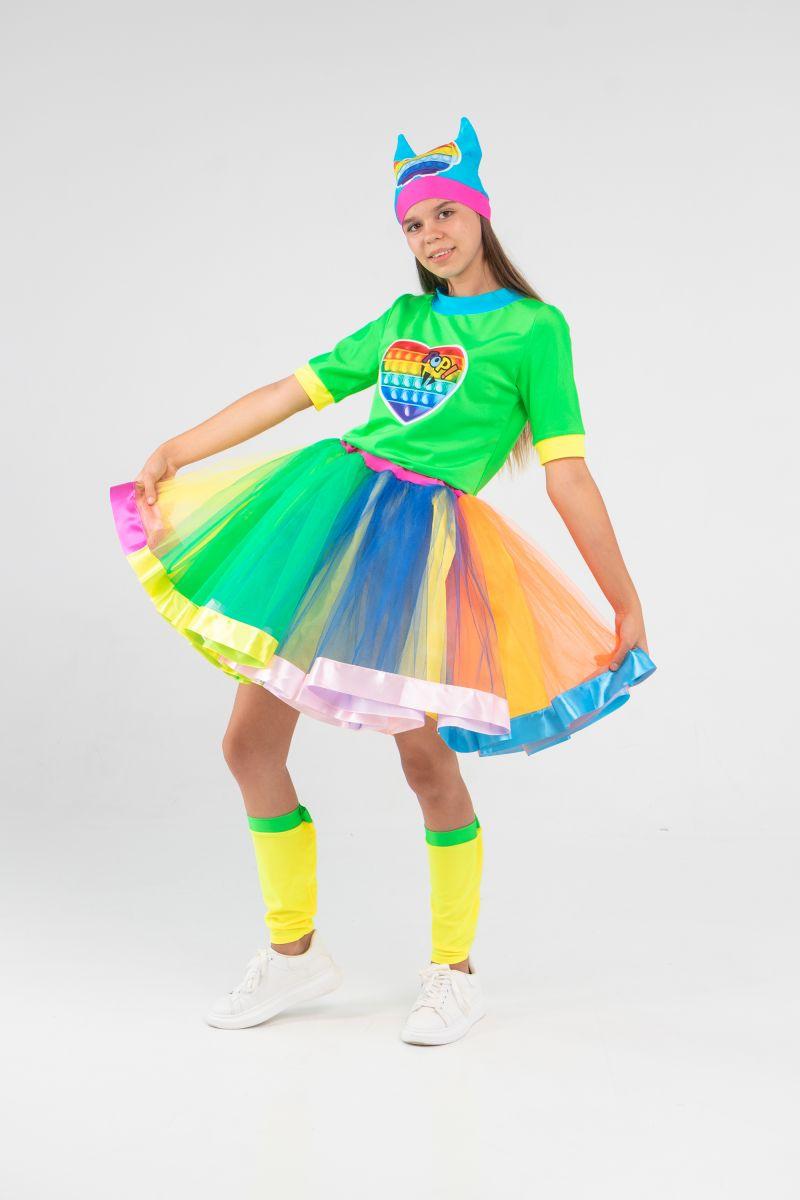Масочка - Поп Ит Девчонка «Pop it girl» карнавальный костюм для аниматоров / фото №3215