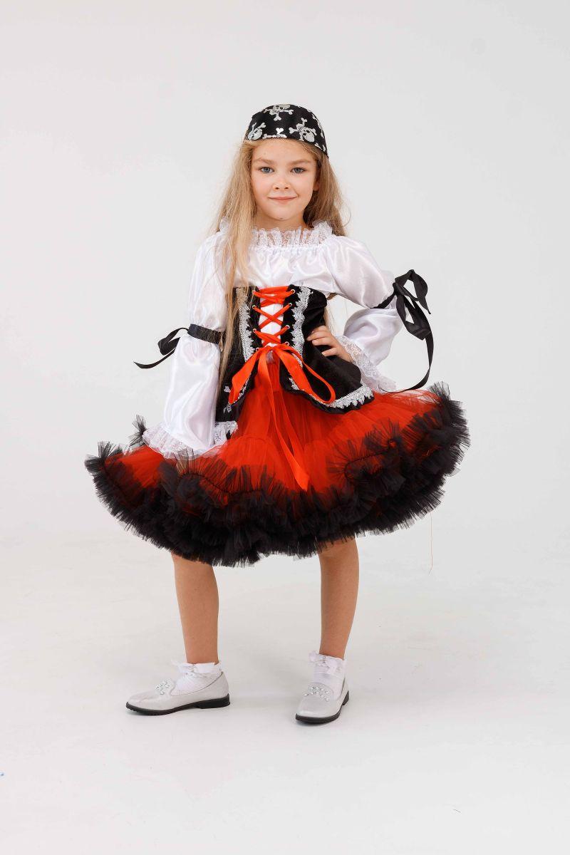 Масочка - «Пиратка красотка» карнавальный костюм для девочки / фото №3253