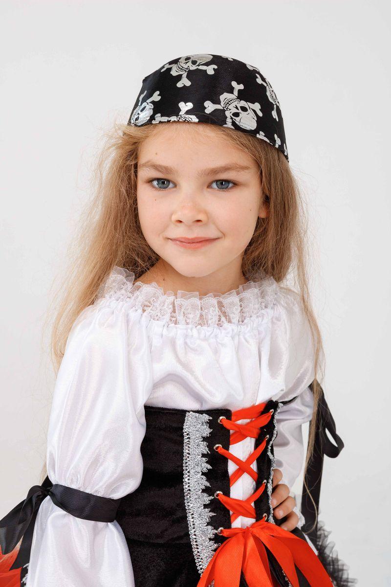 Масочка - «Пиратка красотка» карнавальный костюм для девочки / фото №3257