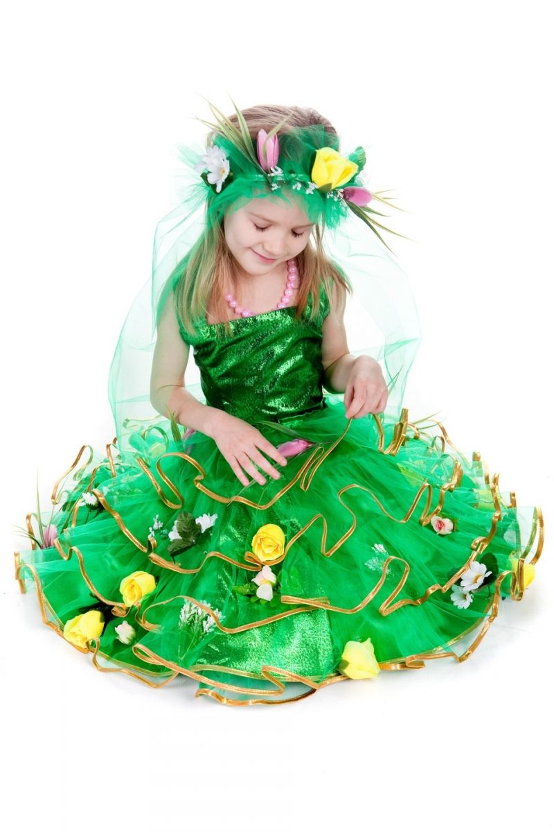 «Весна с цветами» карнавальный костюм для девочки