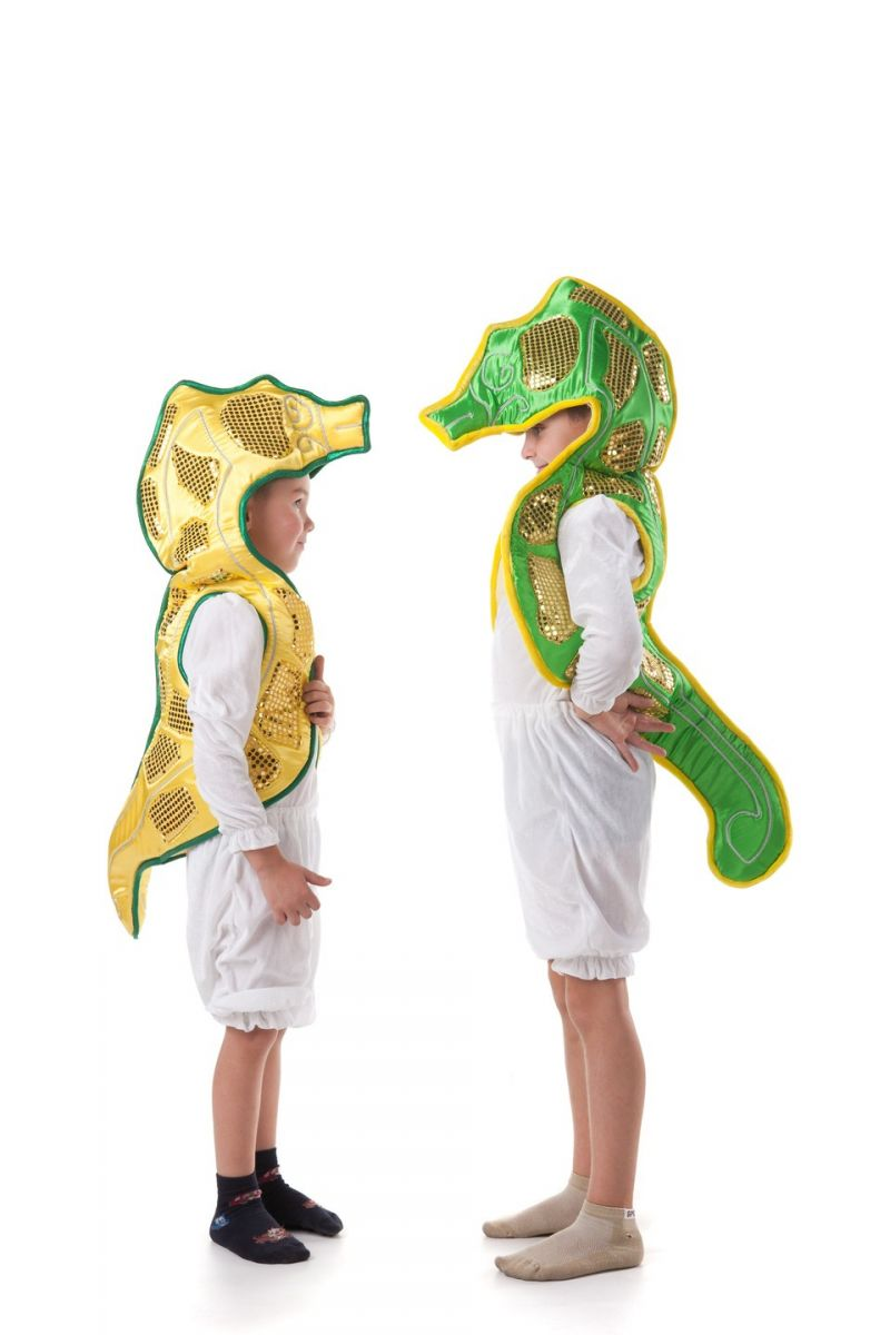 Масочка - «Морской конек» карнавальный костюм для детей / фото №407