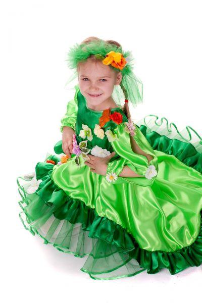 «Весна со шлейфом» карнавальный костюм для девочки