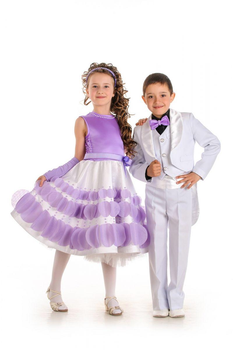 Масочка - «Весенняя сирень» нарядное платье для девочки / фото №529