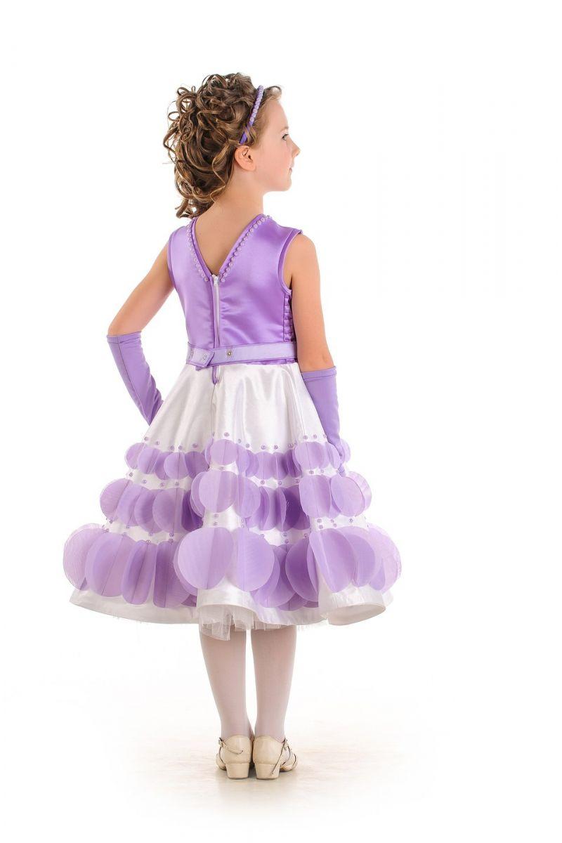 Масочка - «Весенняя сирень» нарядное платье для девочки / фото №530
