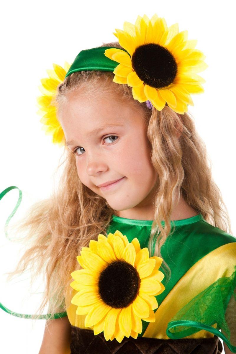 Масочка - «Подсолнух» карнавальный костюм для девочки / фото №565