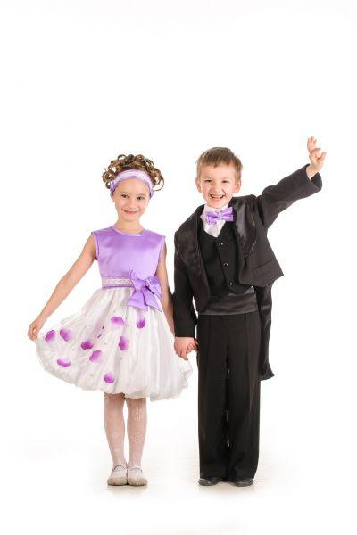 Черный фрак нарядный костюм для мальчика