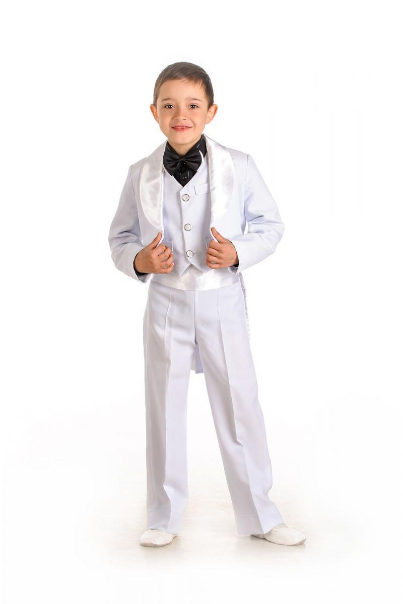 Масочка - Белый фрак Нарядный костюм для мальчика / фото №591