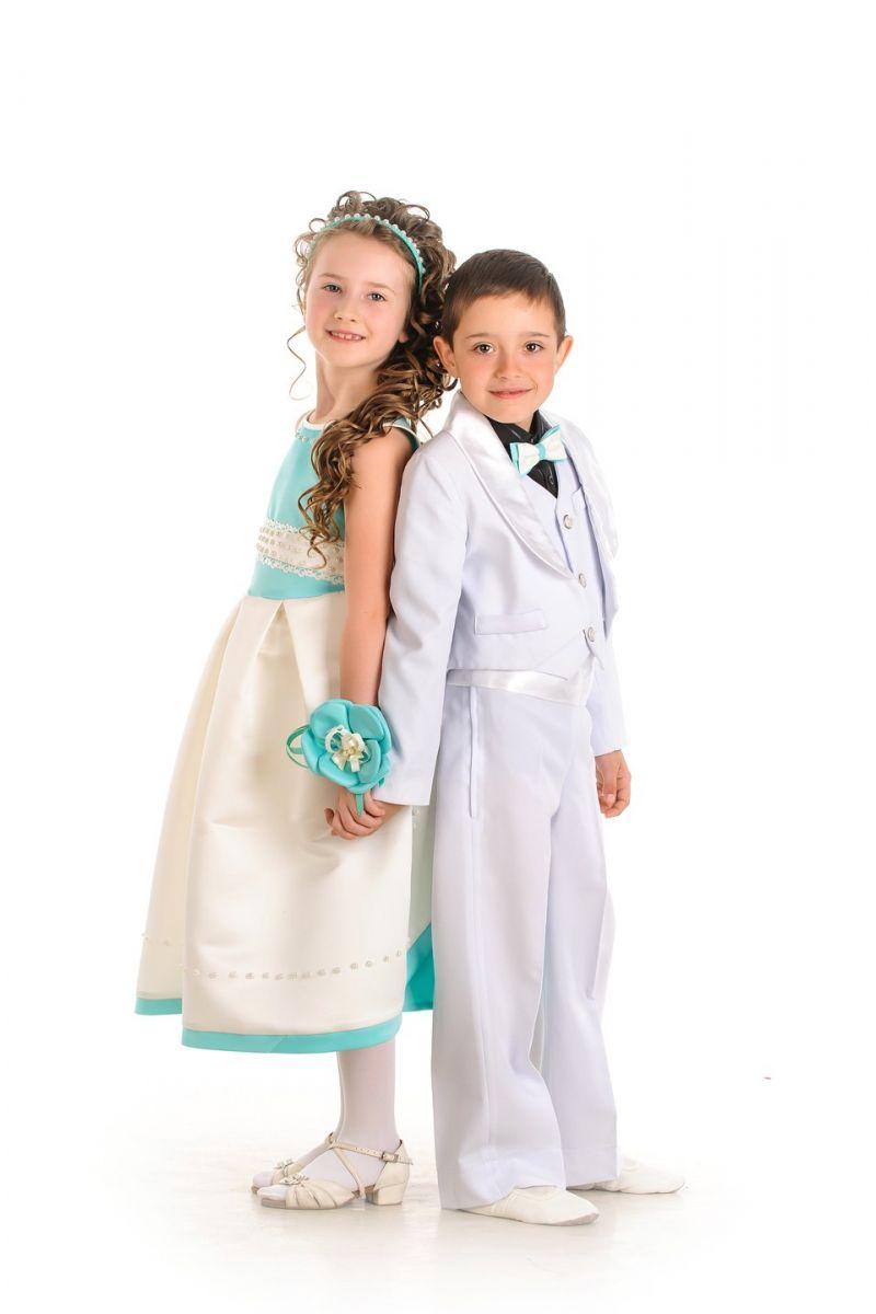 Масочка - Белый фрак Нарядный костюм для мальчика / фото №592