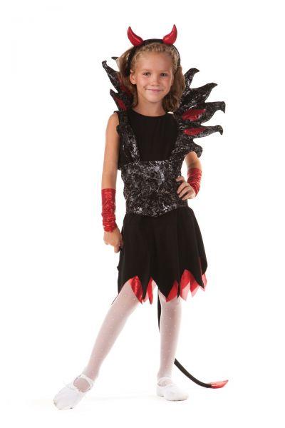 Чертовка «Роковая» карнавальный костюм для девочки