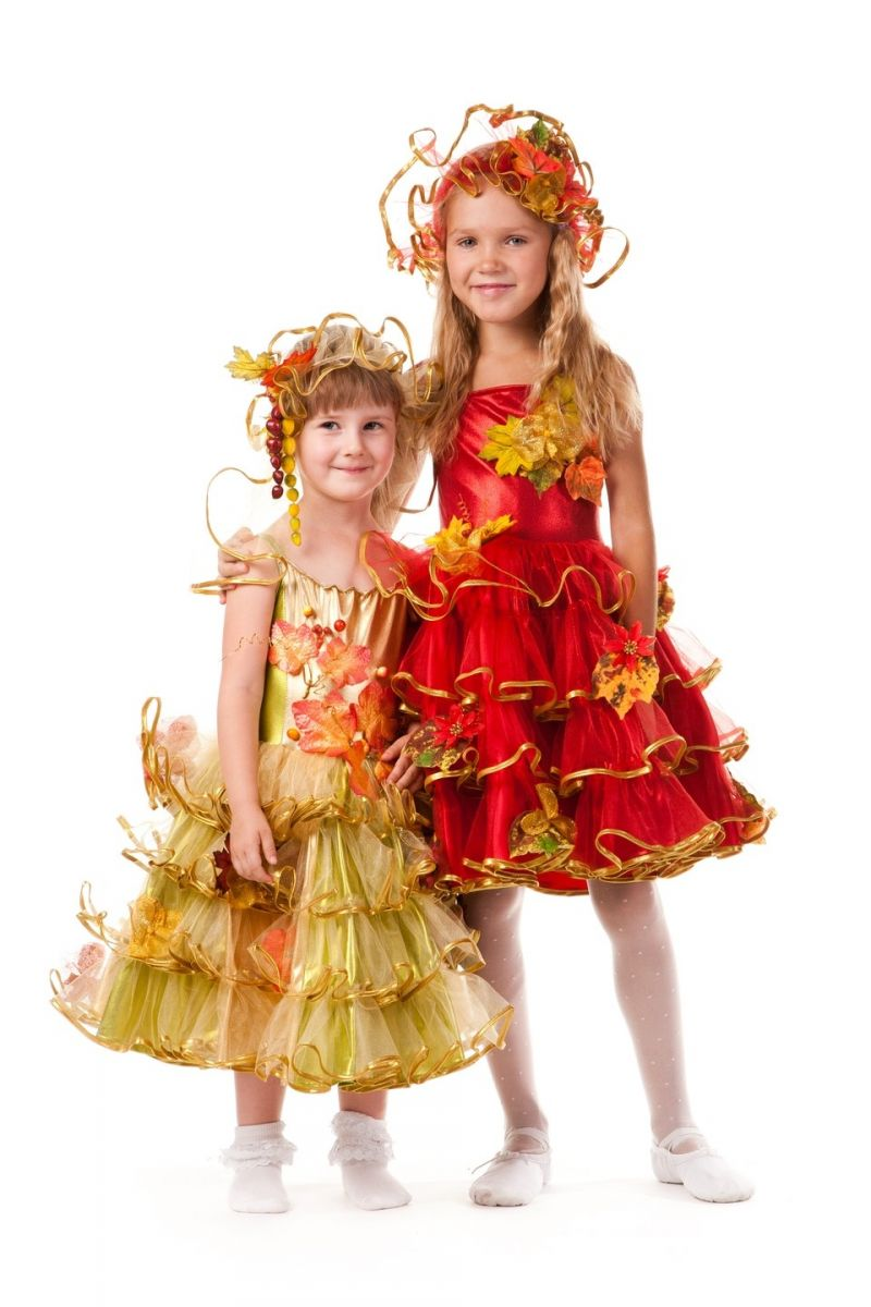 Масочка - «Осень багряная» карнавальный костюм для девочки / фото №601