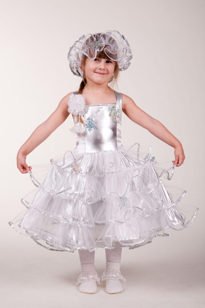 Снежинка «Серебро» карнавальный костюм для девочки