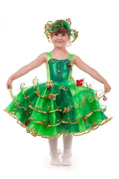 Елочка «Золото» карнавальный костюм для девочки