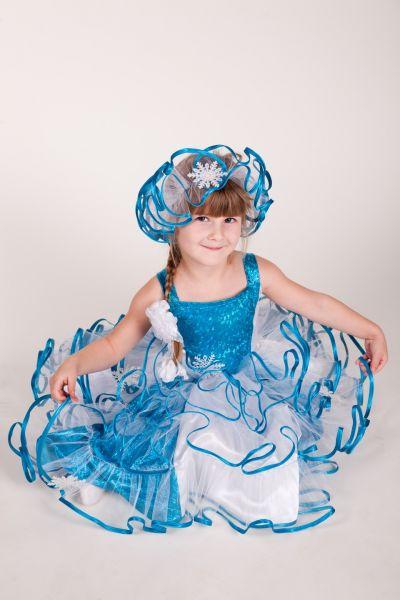 Снежинка «Голубая» карнавальный костюм для девочки