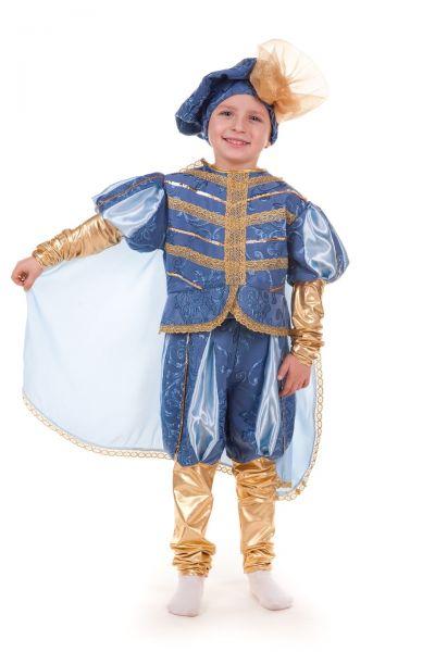 «Принц голубой с золотом» карнавальный костюм для мальчика