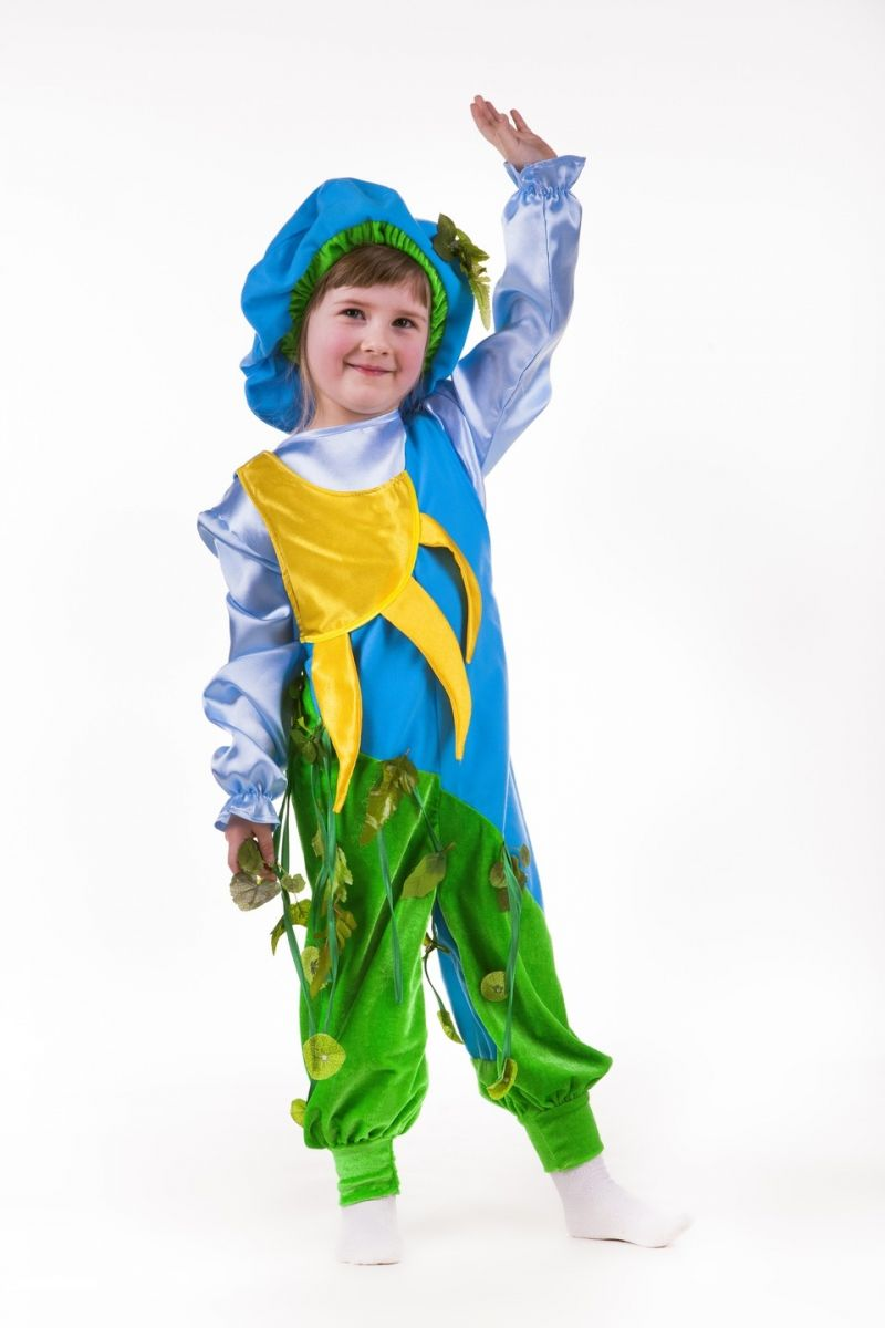 Масочка - «Солнышко-ручеек-весенний лист» карнавальный костюм для мальчика / фото №711