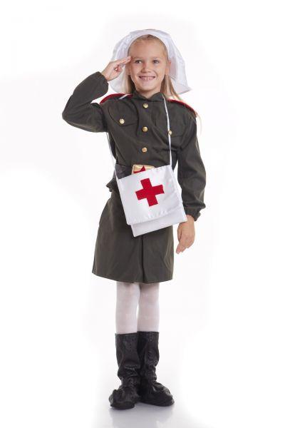 «Военная медсестра» карнавальный костюм для девочки