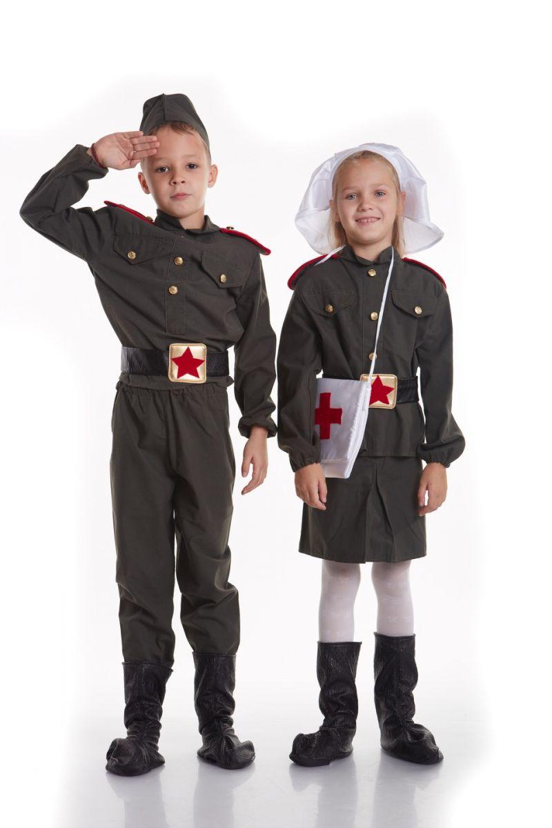 Масочка - «Военная медсестра» карнавальный костюм для девочки / фото №789