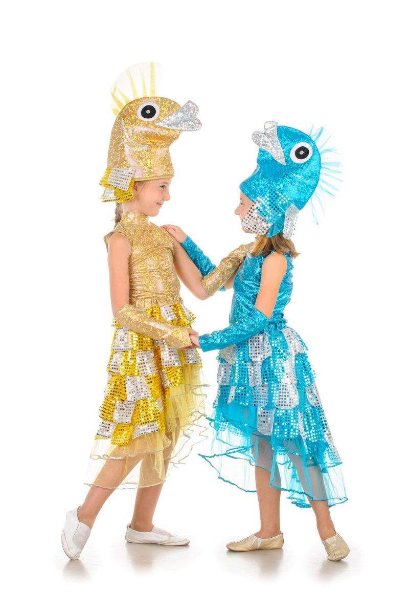 Масочка - «Золотая рыбка» карнавальный костюм для девочки / фото №855