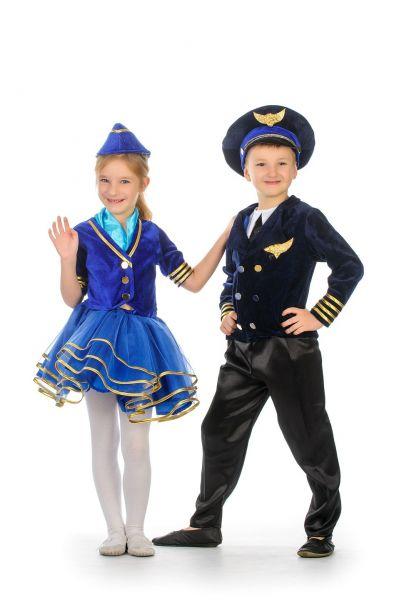 «Стюардесса» карнавальный костюм для девочки