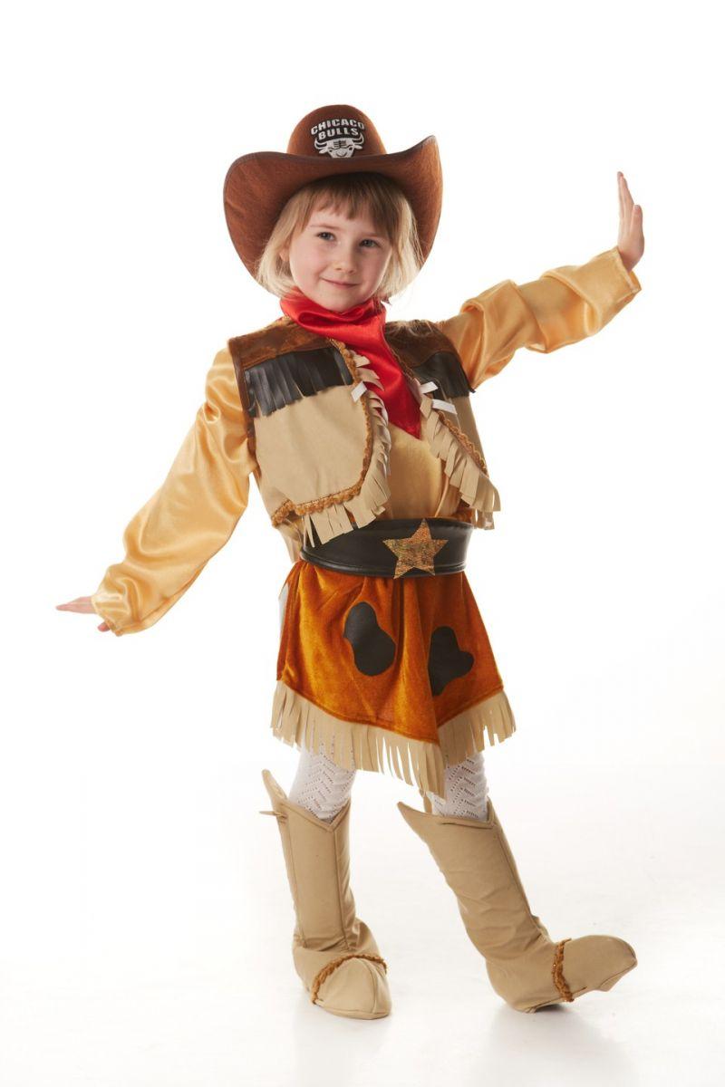 Масочка - «Ковбойша» карнавальный костюм для девочки / фото №908