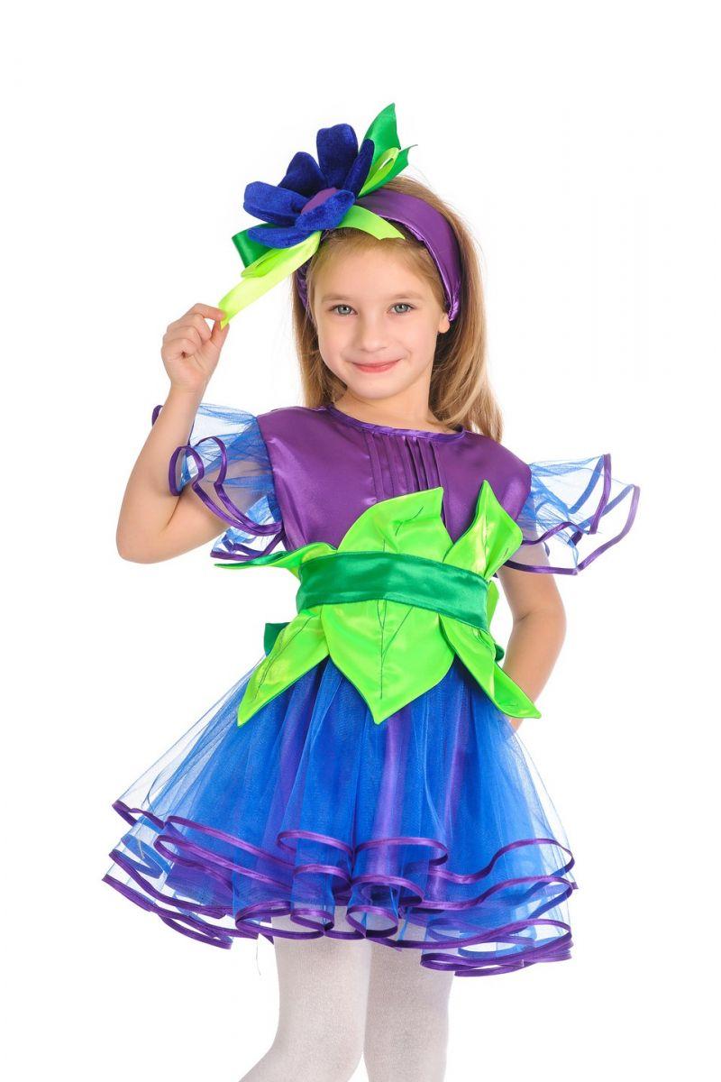 Масочка - «Незабудка» карнавальный костюм для детей / фото №913
