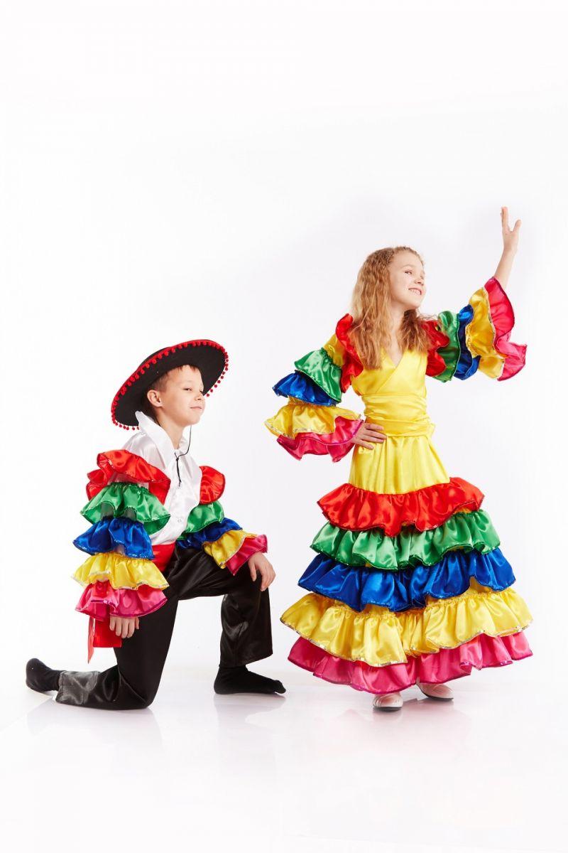 Масочка - Мексиканка Национальный костюм для девочки / фото №935