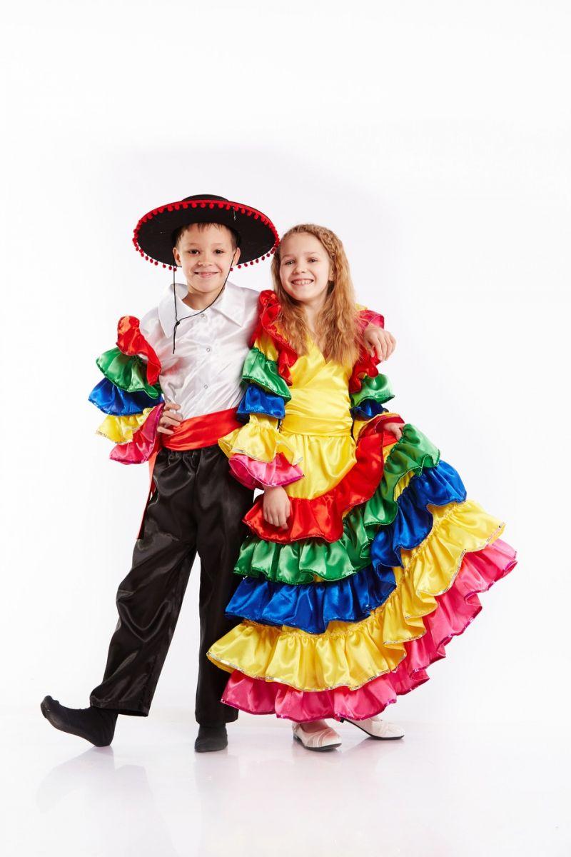Масочка - Мексиканка Национальный костюм для девочки / фото №936